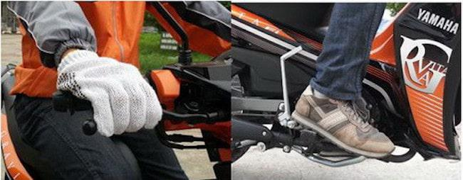 cách phanh (thắng) xe máy an toàn