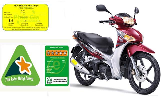 xe máy phải dán nhãn công bố mức tiêu thụ năng lượng