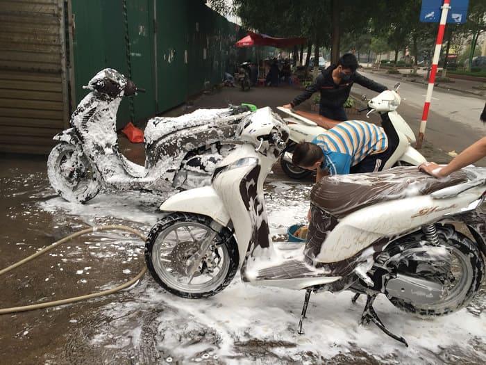 Các bước rửa xe